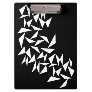 White Triangles Clipboard