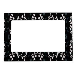 White Triangles Magnetic Frame