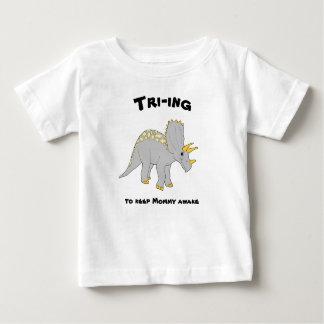White Triceratops Baby Tee