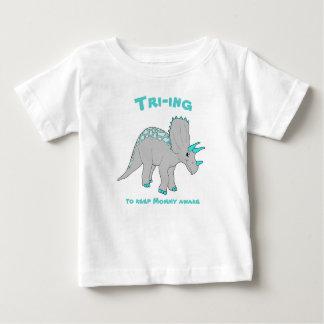 White Triceratops Boy Tee