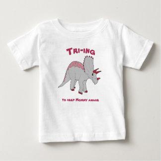 White Triceratops Girl Tee