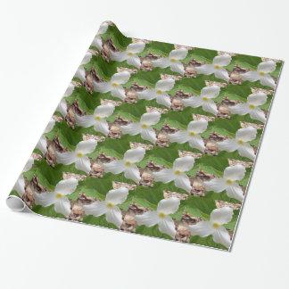 White Trillium Wrapping Paper