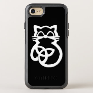 White Trinity Knot Celtic Cat  iPhone 8/7 Case