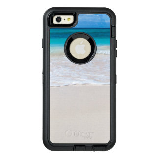 White Tropical Beach and Sea OtterBox Defender iPhone Case