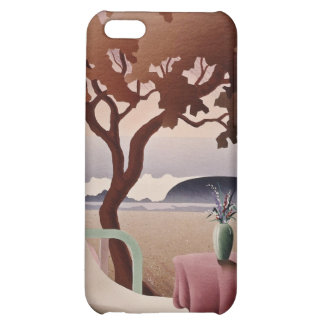 white Tropical resort flowers iPhone 5C Cases