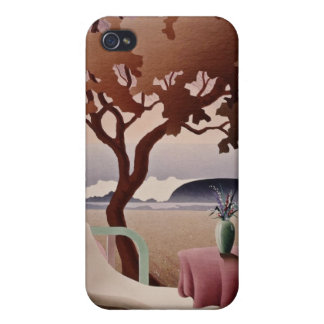 white Tropical resort flowers iPhone 4/4S Case