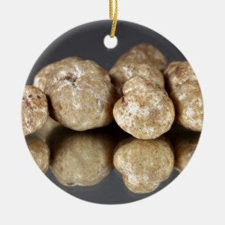 White truffles Tuber oligospermum Ceramic Ornament