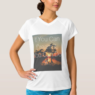 White tshirt with inspirational text