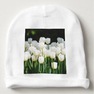 White Tulip Baby Beanie