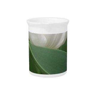 White Tulip Beverage Pitcher