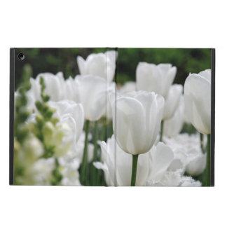 white tulip garden iPad air case