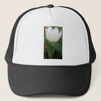 White Tulip Trucker Hat