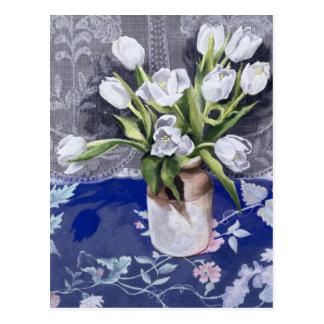 White Tulips 1994 Postcard