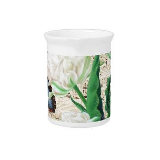 White Tulips Morpho Pitcher
