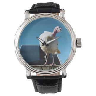 White Turkey Dimensional Popout Art, Watch