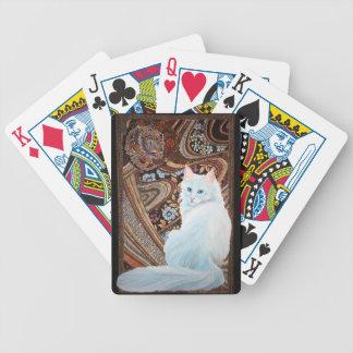 White Turkish Angora Bicycle Poker Cards