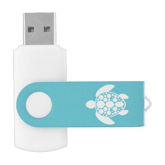 White Turtle USB Flash Drive