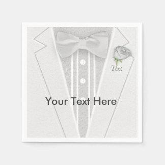 White Tuxedo Paper Napkin