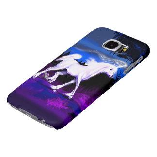 White Unicorn Samsung Galaxy S6 Cases