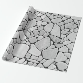 White Uniform Stones Texture Wrapping Paper