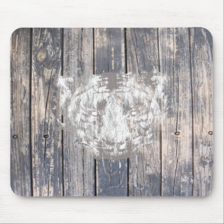 White Urban Tiger Mouse Pads
