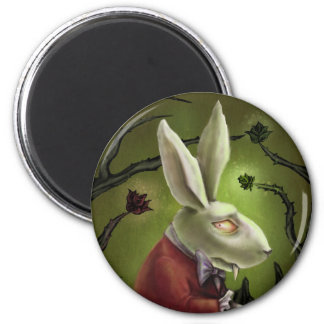 White Vampire Rabbit Magnet