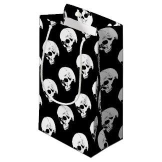 White Vampire Skull Small Gift Bag