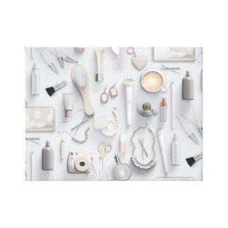 White Vanity Table Canvas Print