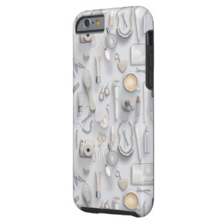White Vanity Table Tough iPhone 6 Case