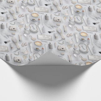 White Vanity Table Wrapping Paper