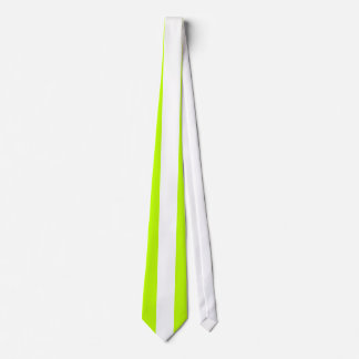 White Vertical Stripe on Lime Tie