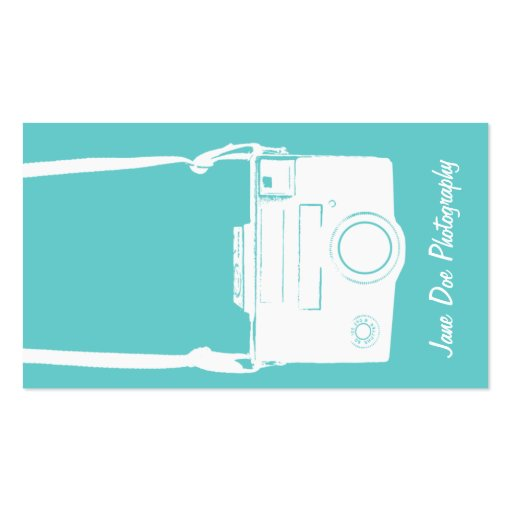 White Vintage Camera Business Card