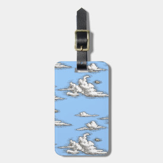White Vintage Clouds Luggage Tags