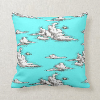 White Vintage Clouds Pillow