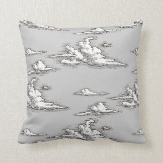 White Vintage Clouds Pillow Throw Cushions