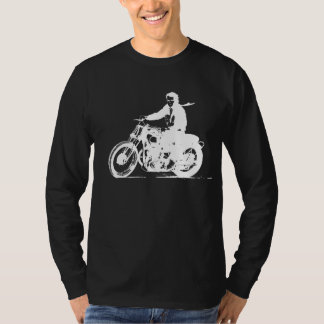 White Vintage Motorcycle - Simple Classic T-Shirt