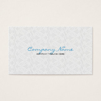 White Vintage Orante Lace Template Business Card