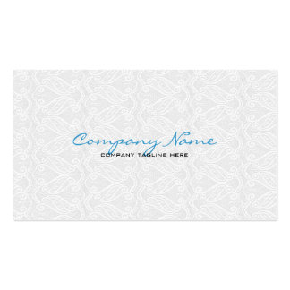 White Vintage Orante Lace Template Pack Of Standard Business Cards