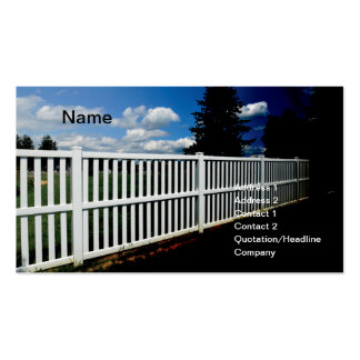 white vinyl fence pack of standard business cards
