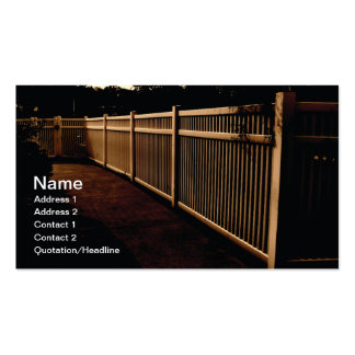 white vinyl outdoor fence pack of standard business cards