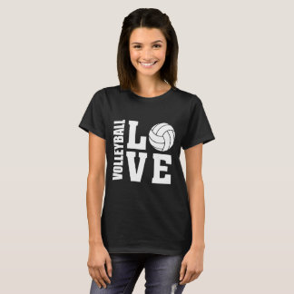 White Volleyball Love, Volleyball t-shirt