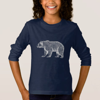 White Walking Bear T-Shirt