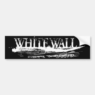 WHITE WALL IMPRINT Bumper Bumper Sticker