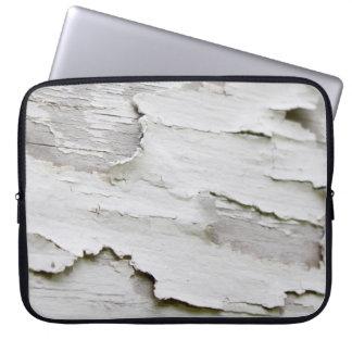 White Wash Peel Laptop Sleeve