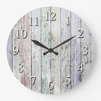 White washed large clock