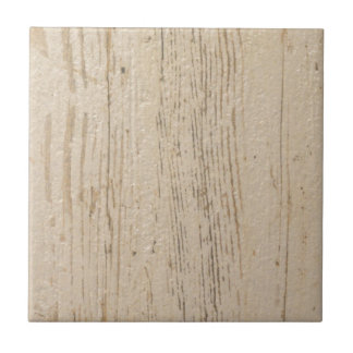 White washed wood grain tile
