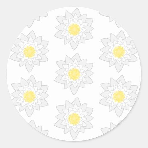 White Water Lilies. Sticker
