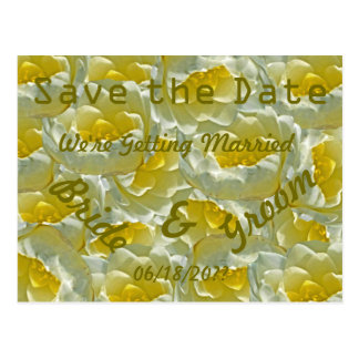 White Water Lilies Wedding Save the Date Postcard