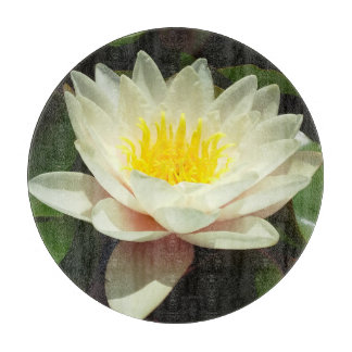White Water Lily Flower Cutting Boards