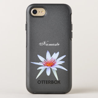 White Water Lily Lotus Flower Namaste Purity OtterBox Symmetry iPhone 8/7 Case